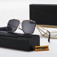 Lunettes de soleil design de qualité supérieure hommes et femmes Style de mode UV400 Les lentilles peuvent protéger les yeux, offrir à maman un cadeau avec une boîte, adapté aux vacances de voyage de conduite