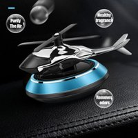 Car Air Freshener Airplane Helicopter Solar Rotating Perfume Auto Cool Propeller Box Fragrance Scent