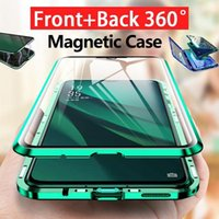 Magnetic Dual Tempered Glass Phone Case For Samsung Galaxy S21 S20 S10 S8 S9 Note 8 9 10 20 Ultra Shockproof Cover