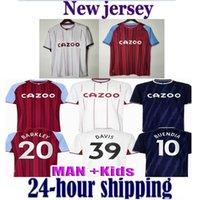 21 22 Aston Futebol Jerseys Villa BBailey Uendía Traore Barkley 2021 2022 Watkins Wesley El Ghazi M.TrezEcuet McGinn Camisa de Futebol Homens Kit Kit uniformes