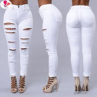 Women's Jeans 2021 Ripped For Women Sexy Skinny Denim Fashion Street Casual Pencil Pants Female Spring And Summer Clothing