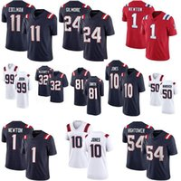 Новые 10 Mac Jones 11 Julian Edelman Football Jerseys 1 Cam Newton 80 Gunner Olszewski 54 ДонТи Хайтауэрс 24 Стефон Гилмор 28 Джеймс Белый Англия