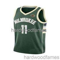 Ucuz Özel Brook Lopez # 11 Yeşil Yama Swingman Jersey Dikişli Erkek Kadın Gençlik XS-6XL Basketbol Formaları