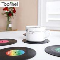 Tappetini tappetini Topfinel Cup per tavolo da pranzo Runner Isolamento in plastica Nero Six Pack Facile da pulire da caffè facile da pulire