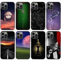 TPU Mobile Cell Phone Cases For Iphone 13 13mini 13pro 13promax Starry Sky Personality Creative Lips Cat Landscape 12promax 12 12pro 12mini 11 Xs Max Mini Pro Promax
