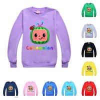 2021 bambini cocomelon t-shirt cartoon boys ragazze girocollo maglione per bambini primavera estate cany colore con cappuccio bambino bambino pullover g49nka7