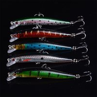 Hot! 5 Colour Laser lines Minnow Fishing Lures Bass Crankbait Hooks Tackle Crank Baits Opp bag packing 8.4g 8.5cm   3.35\