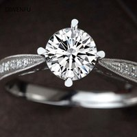 Cluster Rings 2021 Jewlery 14K White Gold Diamond For Women Wedding Bands Couples Fashion Office Silver Fine Jewelry Luxury Gift