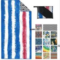 منشفة الشاطئ المناشف الكبار الطباعة الإبداعية واقية من الشمس شال التجفيف السريع بطانية النساء التفاف المطبوعة منشفة البحر الشحن HWB7494