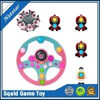 Игра Squid Hind Gidget Toys Простой Дмопл сжимание толчок Пузырь Сенсорное напряжение для съемки Взрослые Детские Аутизм Антистресс Рождественские декомпрессионные игрушечные подарки