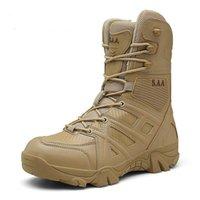 Botas Vancat Hombres Marca de alta calidad Cuero Militar Fuerza Especial Táctica Desierto Combate Zapatillas al aire libre Tobillo