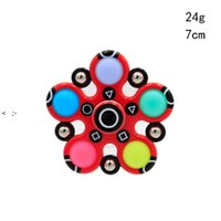 Squid Game Fidget Toys Simple Dimple Silicone Push Bubble Sensory Stress Reliever Finger Spinner Adult Children Autism Antistress CCF11170