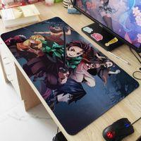 Fare Pedleri Bilek Özelleştirilmiş Süper Büyük Boy Mousepad Kamado Tanjirou Nezuko Agatsuma Zenitsu Hashibira Inosuke Masa Ped 800x300x3m