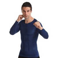 Men's Body Shapers Men Shaper Waist Trainer Slimming Underwear Weight Loss Shirt Fat Burner Workout Tank Top Shapewear Classic Abs Long Slee