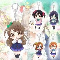 Kawaii Anime Love Live Llavero Kotori Minami Nico Yazawa Figura Figura Acrílico Colgante Llavero Titular de Anillo Accesorios para Otaku Regalo