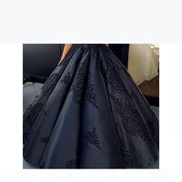 2018 fashion women New Designer Good Quality black Scoop Spaghetti Ball Gown Wedding Dresses Bridal Gowns