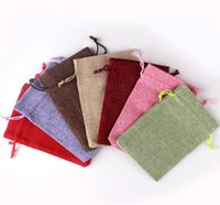 2021 Drawstring Cotton Linen Pouches Multicolor Gift Bag For Party Wedding Candy Small Floral Jewelry Packing Bag