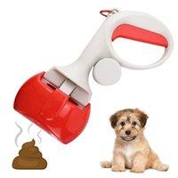 Cão vestuário arredondado punho pet poop scooper portátil remover grampo gato desperdício fezes pooper picker limpador