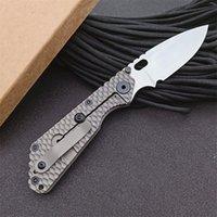 Specail Offer LC Pocket Folding Knife D2 Stone Wash Blade CNC TC4 Titanium Alloy Handle EDC Tactical Knives
