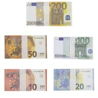 Prop Money 1:1 Fake Moneys Euro Bills Paper Printed Dollar Bill Party For Kids Play Toys Christmas Gifts Video Film