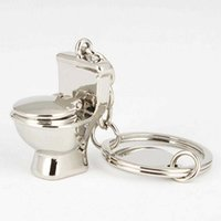 열쇠 고리 미니 화장실 체인 클래식 3D 키 체인 욕실 귀여운 크리 에이 티브 악세사리