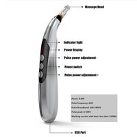 USB Rechargeable Meridian Energy Pen Electronic Acupuncture Pen Electric Meridians Laser Therapy Heal Massage Pen Relief PainRab