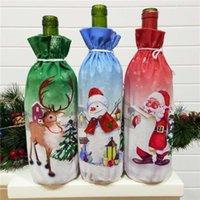 Christmas Decoration articles Creative Santa Claus red wine bottle set Xmas wine gift bag Christmas party Wine Bottle Decoration T9I00165