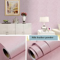 Wall Stickers Linen Pattern Thick Waterproof PVC Self-adhesive Wallpaper Instant Multicolor Sticker Bedroom Living Room Background size 10m*45cm