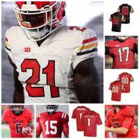 Custom Maryland Terrapins Football Jersey NCAA College Javon Leke Dontay Demus Jr. Stefon Diggs Jake Funk Jeshaun Jones