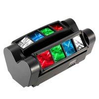 Etkileri 90 W RGBW Sahne Aydınlatma Etkisi 7/13 Kanallar LED Ses Aktif Otomatik Koşu Mini Örümcek Işın Işık Başkanı Hareketli Lamba