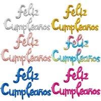 Feliz cumpleatos Español Feliz cumpleaños conjunto de globo Fiestas decoradas letras de aire Foil Helium Globos Party Baloon Niños Juguete Globos