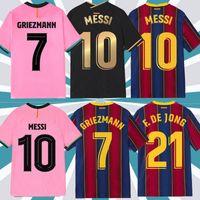 Maillot القدم برشلونة برشلونة لكرة القدم جيرسي 20 21 22 camiseta فوتبول أنسو فتي 2021 2022 ميسي grizmann f. دي جونغ كرة القدم قميص الرجال عدة قمم موحدة مجموعات