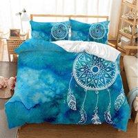 Yi chu xin galaxy 3d dreamcatcher постельное белье установить queen-size роскошный синий пододеяльник набор комплект кровать 200 * 200 кровати утешитель одежды таможенный размер x0803