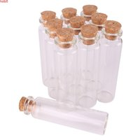 50pcs 20ml Size 22*80*12.5mm Mini Glass Perfume Spice Bottles Tiny Jars Vials With Cork Stopper pendant crafts wedding giftgood qty