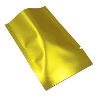 Подарочная упаковка 200 шт. Mylar Вакуумная уплотнительные пакеты открытыми верхней теплой герметичной фольгой Пакеты для образцов для кофейных порошковых гаек Упаковка Матовый алюминиевый пакеты