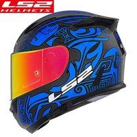 Cascos de motocicleta 100% original LS2 FF801 Casco de cara completa Alex Barros Man Mujer Capacetos Cascos Para Moto ECE