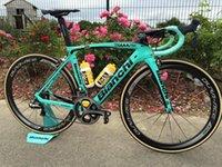 Bianchi Carbon Road Полный велосипедный Команда Лото Джумбо с 105 R7010 ULTEGRA R8010 GROUPSSET DURA ACE C50 50 мм Углеродистый колес