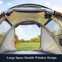 Tents And Shelters Outdoor Camping Tent Thickened Portable Folding Automatic -up Rainproof Equipment Tourist Backpacking Free Installatio