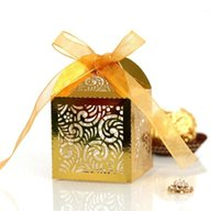 Gift Wrap Wedding Souvenirs Guests Favor Box Door Laser Cut Hollow Filigree Design Birthday Party Chocolate Pack1
