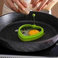 Silicone mais espessa fritar ovos ferramentas forma coração café café da manhã ovo molde omelette dispositivo cookin molde com alça de metal ferramenta de cozinha por mar owa9480