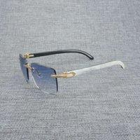 Ahşap Doğal Erkekler Siyah Buffalo Boynuz Güneş Gözlüğü Vintage Rastgele Kare Gözlük Gafas Aksesuarları b