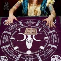 Tarock card tovaglia Beauty Beauty Pagan Altare di altare Velluto di stoffa per decorare la famiglia Tarot Card Panno Soft Astrology Tovaglia 50 * 50 cm