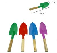 Mini Gardening Shovel Colorful Metal Small Shoveles Garden Spade Hardware Tools Digging Kids Spades Tool EWB6781