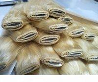 Clip di capelli umani di seta di seta nelle estensioni dei capelli 5clips un set 100 g di bellezza non trasformata intrecciata