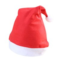 Cappelli rossi di Natale Babbo Natale Cappelli Cappelli per Cappelli per Santa Claus Costume Decorazione natalizia per bambini Cappello di Natale adulto GWB8655