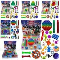 US Stock 24pcs/Set Christmas Fidget Toy Xmas Countdown Calendar Blind Boxes Sensory Pack 5 Styles Advent Calendar Christmas Gifts Box