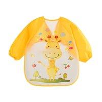 Bebek Önlükler Bebek Burp Bez Uzun Kollu Önlük Su Geçirmez Çocuk Besleme Smock Bib Toddler Baberos Bavoir Giyim Aksesuarları 884 X2