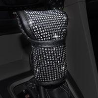 Steering Wheel Covers Universal Sparkle Bling Rhinestone Interior Car Accessories Collar Cover Shift Decor Gear W X0U6