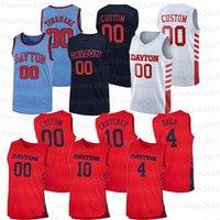Personalizado Dayton Folhetos Faculdade Jerseys Basquetebol 0 Rodney Chatman 1 OBI Toppin 2 Ibi Watson 3 Landers 31 Jhery Matos 33 Ryan Mikesell