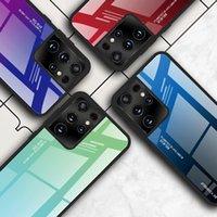 50 adet Renkli Temperli Cam Telefon Kılıfları Degrade Rampa iPhone 6 7 8x11 12 Pro Max S9 S10 S21 Ultra Kılıf